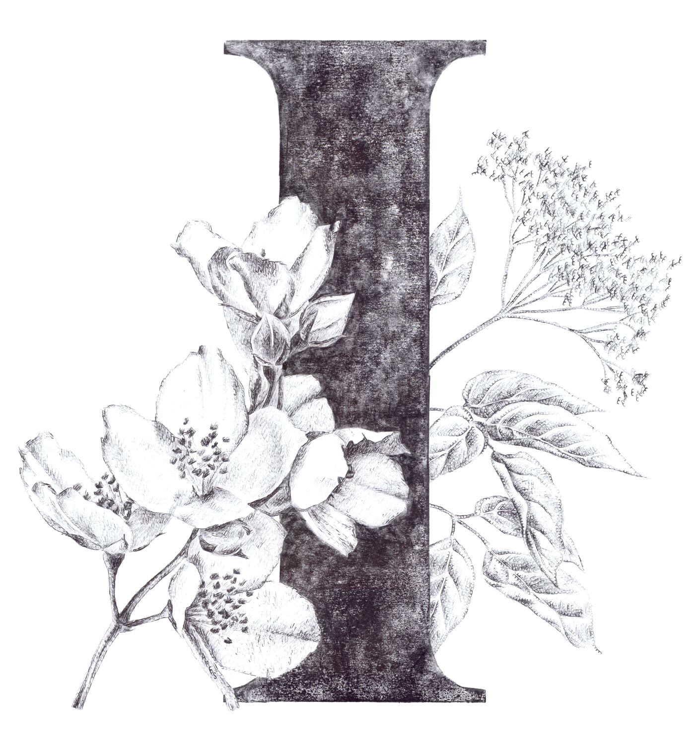 I for Irwin, Jasmin (James) and Elderflower (Emma), 2017, date stamp and ink on paper, 60 x 40 cm